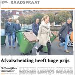 Raadspraat: 'Afvalscheiding heeft hoge prijs'